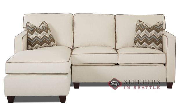 Savvy Jersey Compact Chaise Sectional Sofa
