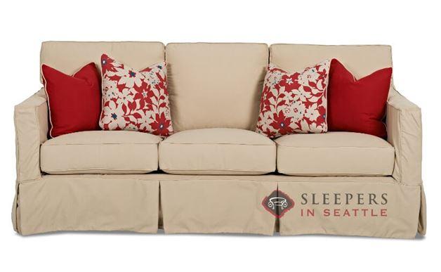 Savvy Jersey Large Queen Sleeper Sofa with Slipcover