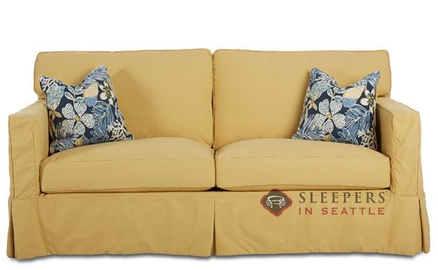 Savvy Jersey Sleeper Sofa with Slipcover (Full)