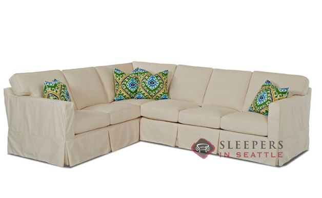 Savvy Jersey True Sectional Sleeper Sofa with Slipcover