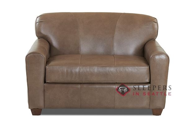 Savvy Zurich Leather Sleeper Sofa in Abilene Smoke (Chair)
