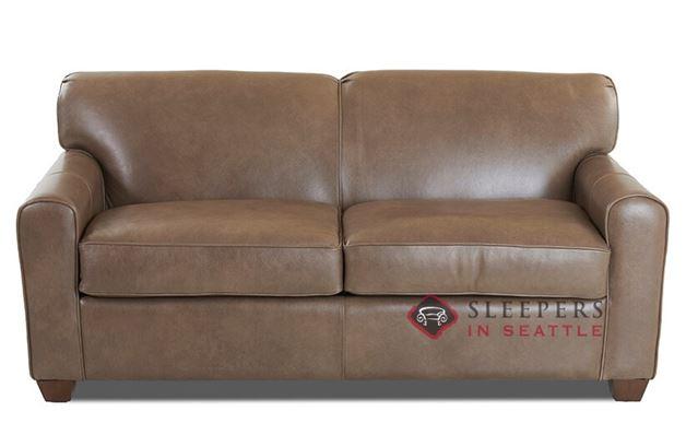 Savvy Zurich Leather Sleeper Sofa (Full) in Abilene Smoke