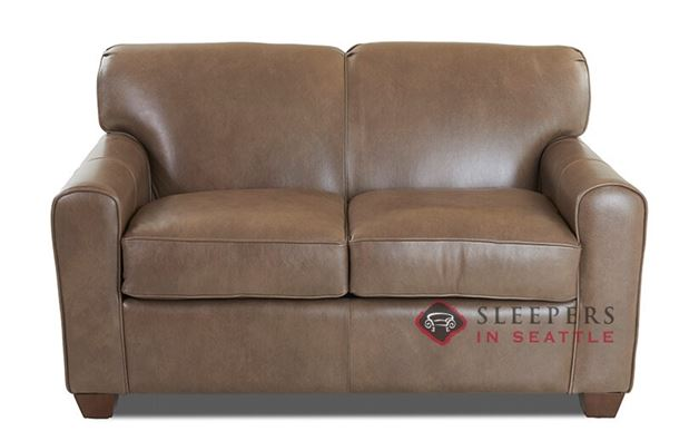 Savvy Zurich Leather Sleeper Sofa (Twin)