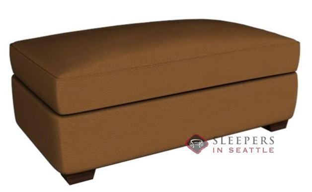 Savvy Geneva Leather Storage Ottoman