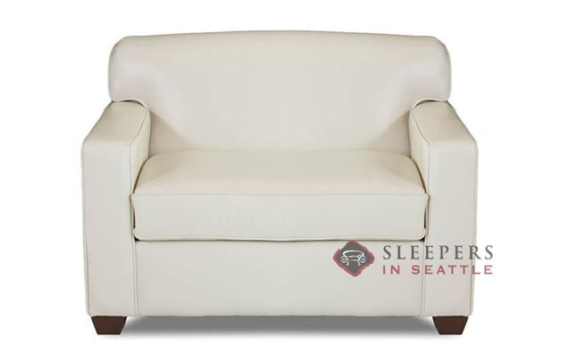 Savvy Geneva Leather Sleeper Sofa in Durango Oatmeal (Chair)