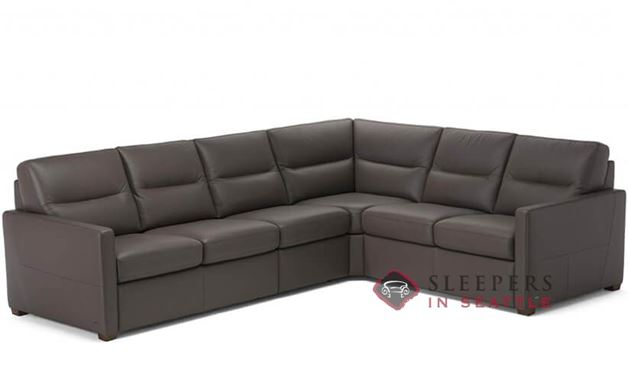 Natuzzi Editions Conca True Sectional Leather Sleeper Sofa (Queen) (C010-536/537/011/016/017)