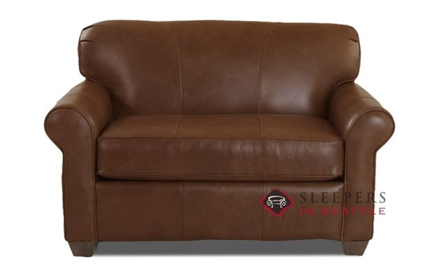 Savvy Calgary Sleeper (Chair) in Abilene Chestnut Leather