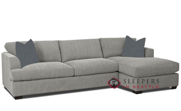 Savvy Berkeley Queen Chaise Sectional Sleeper Sofa in Brookside Grey