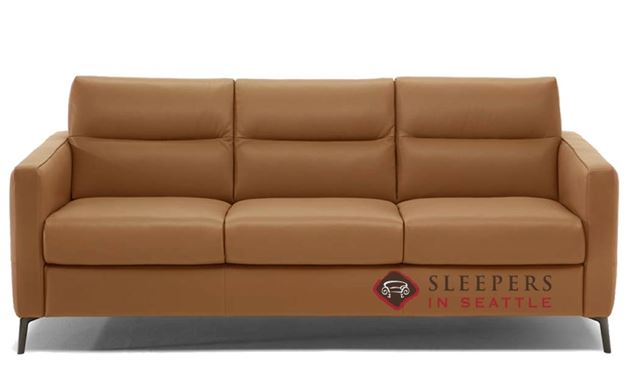 Natuzzi Editions Caffaro Leather Sleeper Sofa in Oregon Cuoio (Queen) (C008-266)