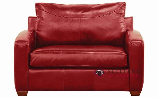 Savvy Boulder Leather Sleeper in Durango Strawberry (Chair)