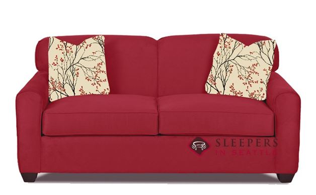 Zurich Full Sleeper Sofa in Willow Blaze Red (Full)