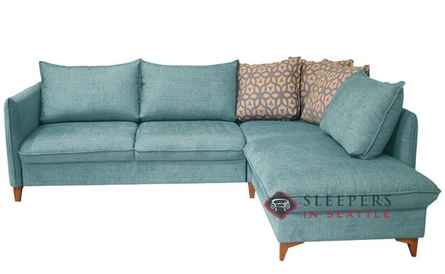 Luonto Flipper LAF Chaise Sectional Sleeper Sofa in Naomi 321