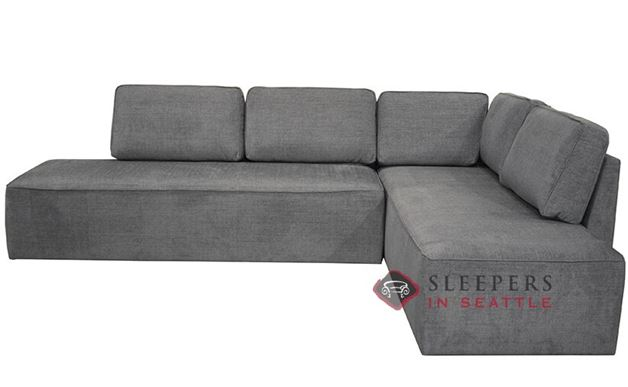 Luonto New York LAF Chaise Sectional Sleeper Sofa with Storage (Queen) in Naomi 213
