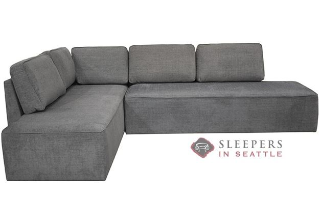 Luonto New York RAF Chaise Sectional Sleeper Sofa with Storage (Queen) in Naomi 213