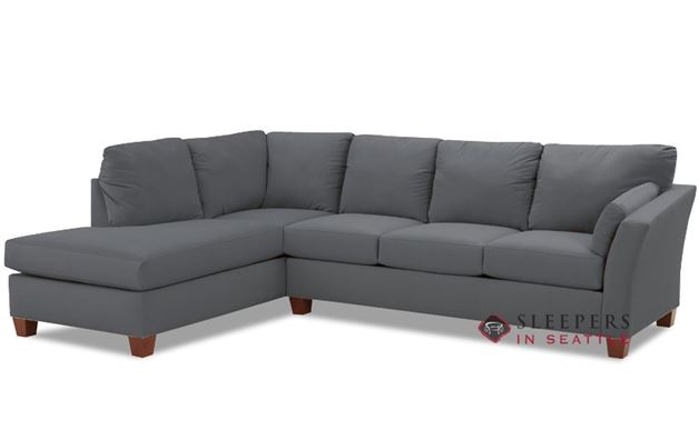 Savvy Sienna Chaise Sectional Sleeper in Microsuede Charcoal (Queen)