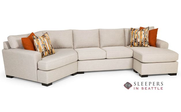 Stanton 390 Curved Sectional Queen Sleeper Sofa