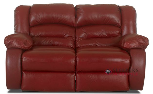 Savvy Augusta Reclining Leather Loveseat