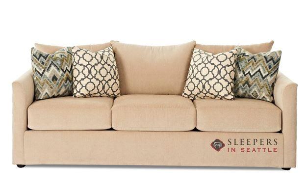 Savvy Aventura Queen Sleeper Sofa in Homerun Ivory