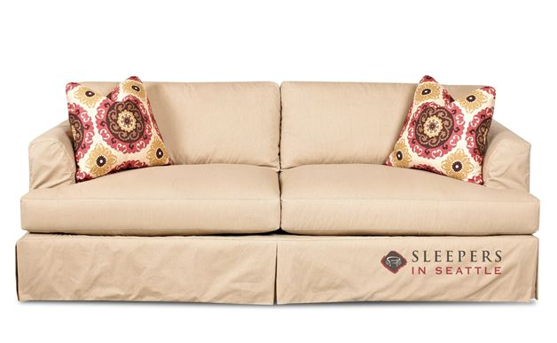 Savvy Berkeley Sleeper Sofa with Slipcover (Queen) in Rift Dune