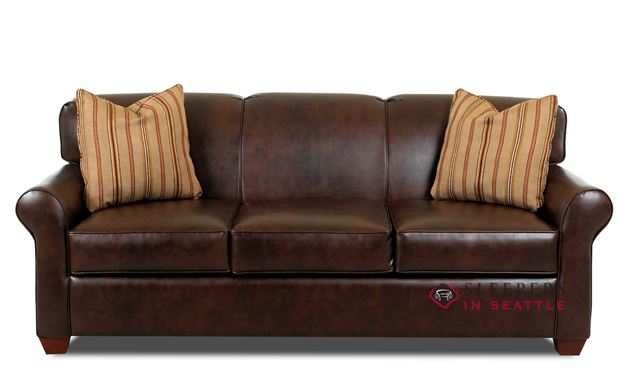 Customize And Personalize Calgary Queen Leather Sofa By