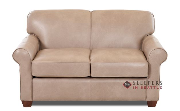 Calgary Leather  Sleeper Sofa by Savvy (Twin)