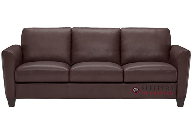 Natuzzi B592 Leather Sleeper in Phoenix Brown (Queen)