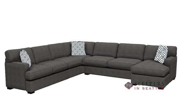 Stanton 146 U-Shape True Sectional Sleeper Sofa in Cornell Pewter (Queen)