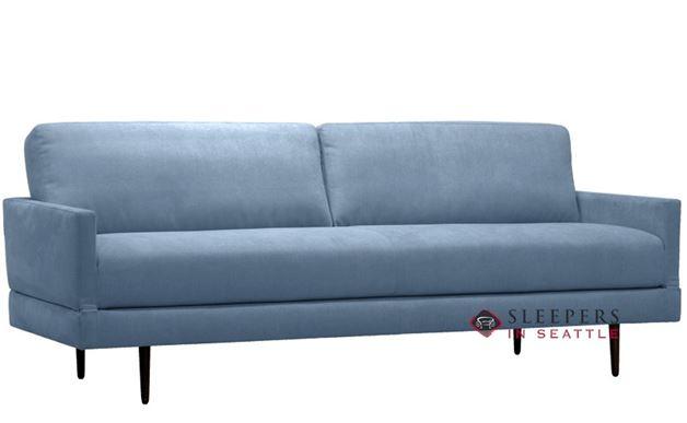 Luonto Tango Full Sleeper Sofa in Barcelona 200 Light Blue