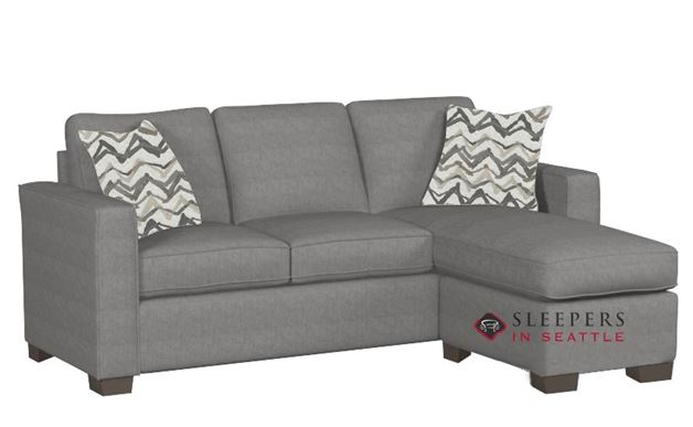 Stanton 702 Chaise Sectional Sleeper Sofa in Legacy Steel (Queen)