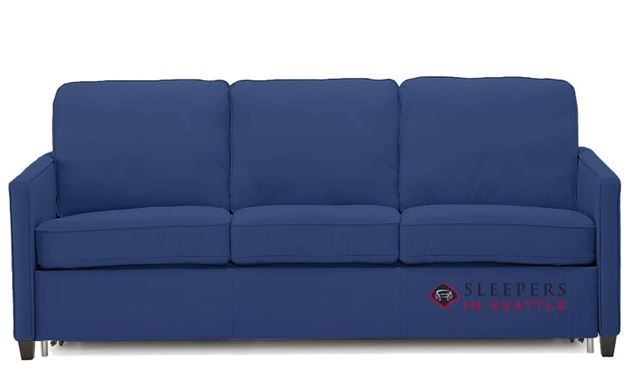 Palliser California CloudZ Queen Leather Sleeper Sofa in Valencia Sapphire