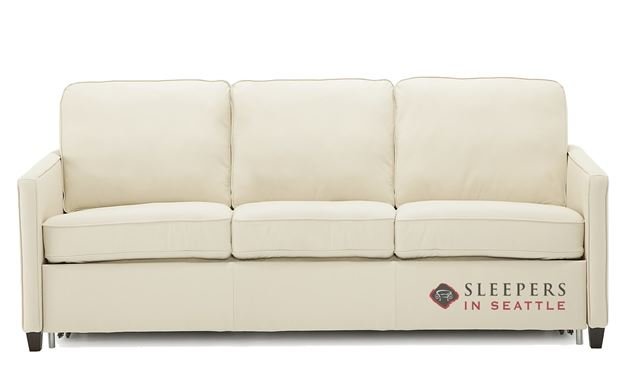 Palliser California CloudZ Queen Top-Grain Leather Sleeper Sofa
