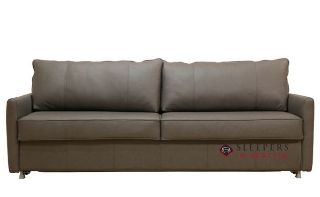 Customize And Personalize Elevate Queen Leather Sofa By