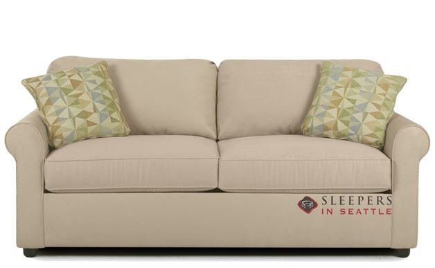 Savvy Ottawa Sleeper by in Microsuede Khaki (Queen)