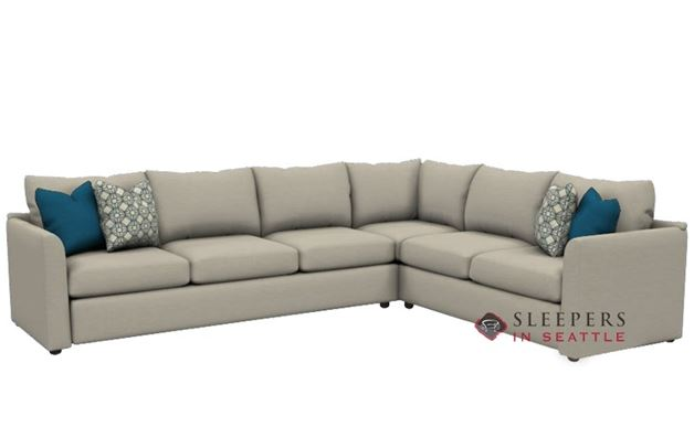 Savvy Aventura True Sectional Sleeper in Lizzy Linen (Queen)