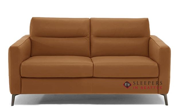 Natuzzi Editions Caffaro Leather Sleeper Sofa in Urban Camel (Full) (C008-264)