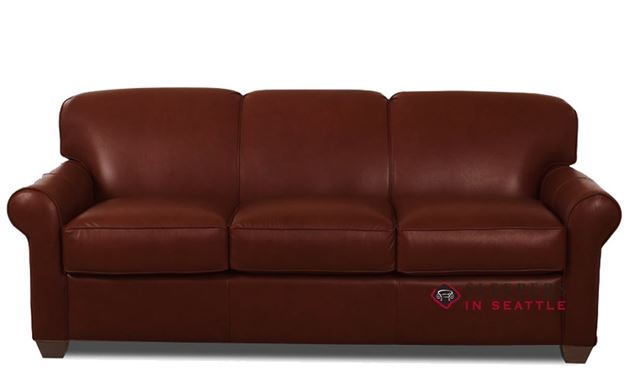 Savvy Calgary Sleeper (Queen) in Chesterfield Cabernet Leather
