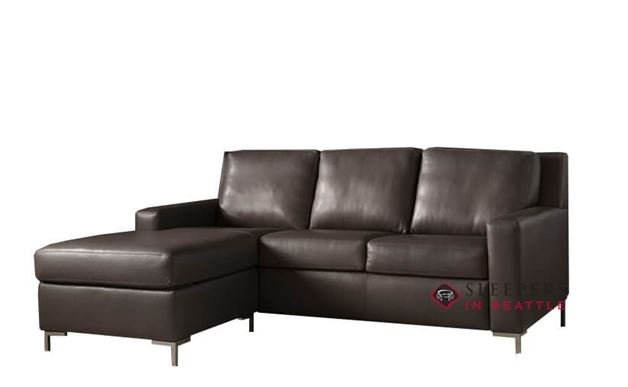 American Leather Bryson Leather Queen Plus with Chaise Comfort Sleeper