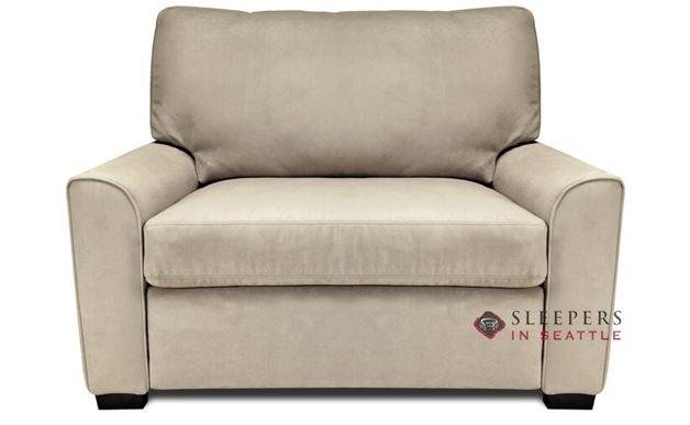 American Leather Klein Leather Twin Comfort Sleeper