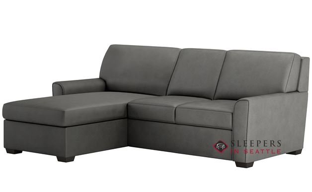 American Leather Klein Leather Queen Plus with Chaise Comfort Sleeper