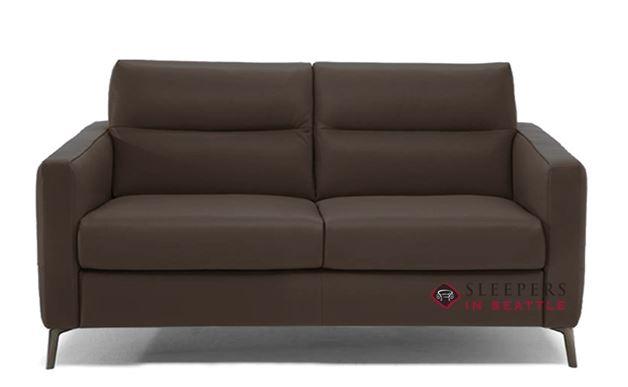 Natuzzi Editions Caffaro Leather Sleeper Sofa in Urban Bark (Full) (C008-264)