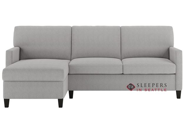 American Leather Conley Leather Queen Plus with Chaise Comfort Sleeper