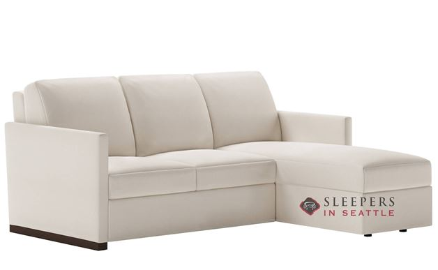 American Leather Pearson Low Leg Leather Queen Plus with Chaise Comfort Sleeper