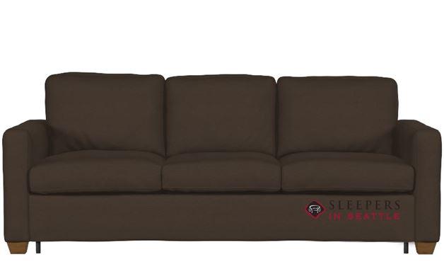 Palliser Kildonan CloudZ Queen Top-Grain Leather Sleeper Sofa in Valencia Cafe