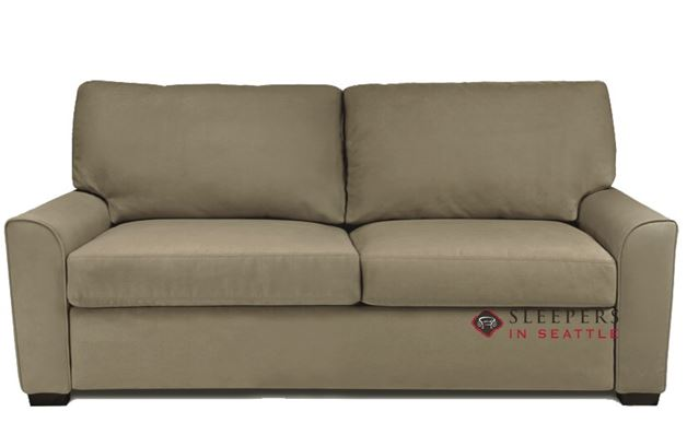 American Leather Klein Queen Comfort Sleeper in Vee Life Cappuccino