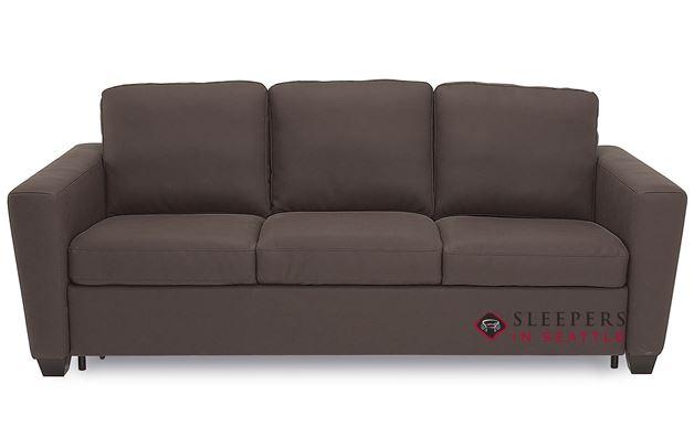 Palliser Wyn CloudZ Queen Top-Grain Leather Sleeper Sofa