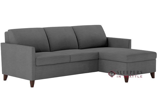 American Leather Harris Leather Queen Plus with Chaise Comfort Sleeper
