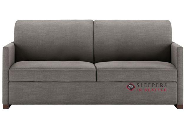 American Leather Pearson Low Leg Queen Comfort Sleeper in Aura Flint