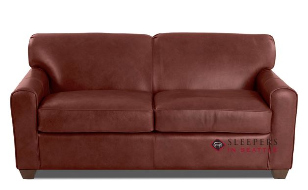 Savvy Zurich Leather Sleeper Sofa (Full) in Steamboat Oxblood
