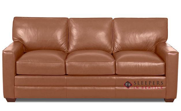 Quick Ship Palo Alto Queen Leather Sofa