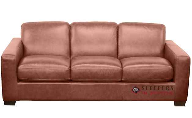Natuzzi B534 Sleeper in Rustic Saddle (Queen)
